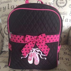 Girls medium quilted ballet bookbag. Belvah brand